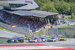 08.06.2019, Red Bull Ring, Spielberg, AUT, ADAC GT Masters Spielberg, Rennen, im Bild v.l.: Nicolai Sylvest (DNK)/Jens Klingmann (GER) BMW M6 GT3, Timo Bernhard (GER)/Klaus Bachler (AUT) Porsche 911 GT3 R // f.l.: Danish ADAC GT Masters driver Nicolai Sylvest/German ADAC GT Masters driver Jens Klingmann BMW M6 GT3 German ADAC GT Masters driver Timo Bernhard/Austrian ADAC GT Masters driver Klaus Bachler Porsche 911 GT3 R during the race for the ADAC GT Masters at the Red Bull Ring in Spielberg, Austria on 2019/06/08. EXPA Pictures © 2019, PhotoCredit: EXPA/ Dominik Angerer
