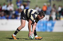 Theuns Kotze of Boland scores a try during the Currie Cup premier division match between the Boland Cavaliers and The Blue Bulls held at Boland Stadium, Wellington, South Africa on the 23rd September 2016<br /> <br /> Photo by:   Shaun Roy/ Real Time Images