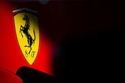 December 3-4, 2016: Ferrari Finali Mondiali, Ferrari logo detail on Jean Alesi's F1 car