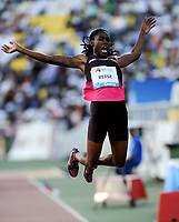 Friidrett<br /> IAAF Diamond League 2013<br /> Doha 10.05.2013<br /> Foto: imago/Digitalsport<br /> NORWAY ONLY<br /> <br /> Brittney Reese of the United States jumps during the women s long jump final at the IAAF Diamond League in Doha, capital of Qatar, May 10, 2013. Reese claimed the title of the event with 7.25 metres.