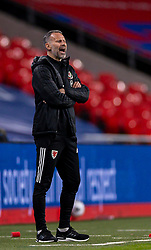 LONDON, ENGLAND - Thursday, October 8, 2020: Wales' manager Ryan Giggs during the International Friendly match between England and Wales at Wembley Stadium. The game was played behind closed doors due to the UK Government's social distancing laws prohibiting supporters from attending events inside stadiums as a result of the Coronavirus Pandemic. England won 3-0. (Pic by David Rawcliffe/Propaganda)