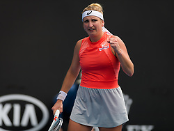 January 17, 2019 - Melbourne, AUSTRALIA - Timea Bacsinszky of Switzerland in action during her second-round match at the 2019 Australian Open Grand Slam tennis tournament (Credit Image: © AFP7 via ZUMA Wire)