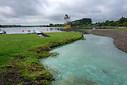 Glasgow, Scotland, Friday, 3rd  August 2018, The Stink at the Start, the stagnent still water, in the start area, causing a smell, European Games, Rowing, Strathclyde Park, North Lanarkshire, © Peter SPURRIER/Alamy Live News