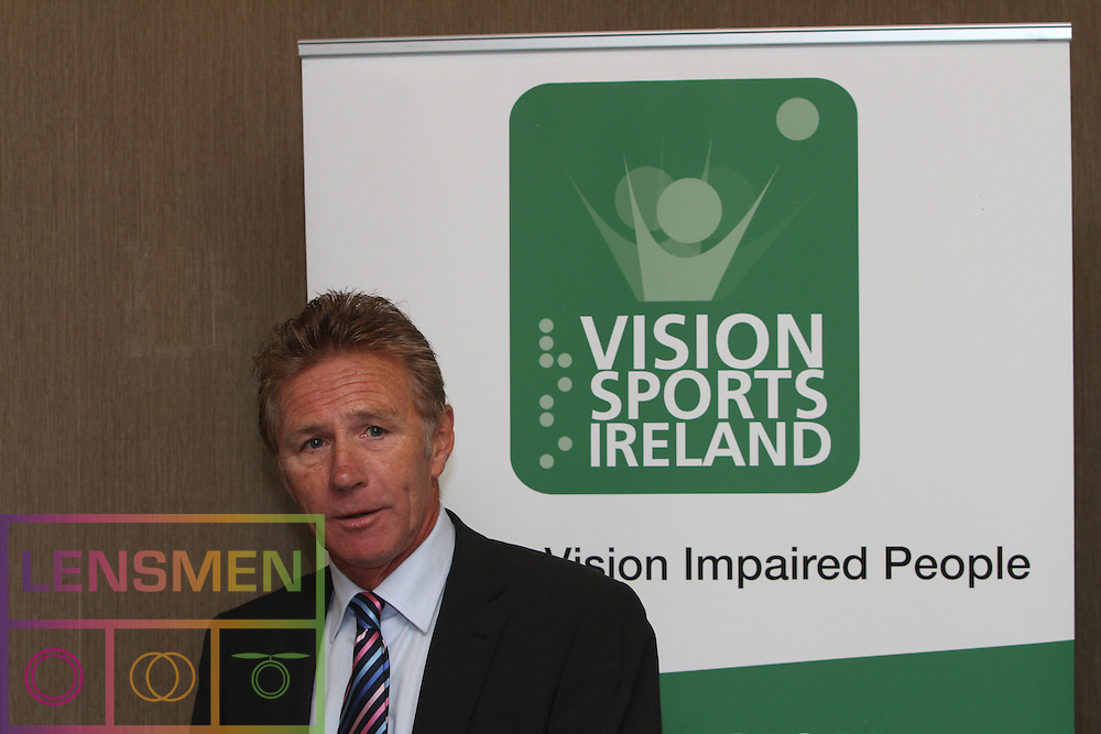 """PRESS RELEASE <br />Jason Smyth and Minister Leo Varadkar launch Vision Sports Ireland.  <br />Thursday, 19 September, Dublin.<br />Four time Paralympic gold medallist and World Champion, Jason Smyth, and Minister for Transport, Tourism & Sport, Leo Varadkar, today launched Vision Sports Ireland at a reception in central Dublin. Formerly Irish Blind Sports, the organisation has been renamed and rebranded to mark its 25th anniversary and to reflect the needs of its members. <br /><br />Pictured at the  launched Vision Sports Ireland at a reception in central Dublin. Formerly Irish Blind Sports, the organisation has been renamed and rebranded to mark its 25th anniversary and to reflect the needs of its members.<br />Were life to right<br />Senator Eamonn Coghlan.<br /><br />Speaking at the opening Minister Varadkar said: """"This is the start of a new era for vision impaired sports people in Ireland and I congratulate Vision Sports Ireland for reaching out to the community. Sport can, and should, be open to everyone, and I know that this organisation is striving to provide access to activities right across the country. The Government continues to support this area and awarded €36,000 to Vision Sports Ireland through the Sports Council this year, in addition to support for elite athletes through Paralympics Ireland.""""<br />Vision Sports Ireland assists vision impaired people in Ireland, of all ages, to access sports at all levels, from leisure to elite, in their own communities where possible. The Organisation offers a range of sports, including tandem cycling, football, swimming, golf and athletics and hosts, both,  national and international competitions. <br />Senator Eamonn Coghlan, a valued supporter of Vision Sports Ireland, former three time Olympian and World athletics 5000m champion,  presided over the event declaring in his opening that """"today is a great day for the vision impaired people of Ireland.""""<br />Jason Smyth, a long-time Vision Sports Ireland member, ha"""