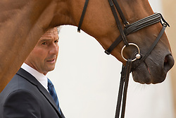 Jean Teulere, (FRA), Matelot du Grand Val - First Horse Inspection  - Alltech FEI World Equestrian Games™ 2014 - Normandy, France.<br /> © Hippo Foto Team - Dirk Caremans<br /> 25/06/14
