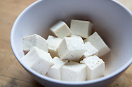 Tofu. Cooking by macrobiotic master chef Mayumi Nishimura.<br /> <br /> Photographer: Christina Sjogren<br /> Copyright 2019, All Rights Reserved