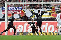 0:1 Tor v.l. Oemer Toprak, Lars Bender, Vedran Corluka (Leverkusen), Martin Lanig (Koeln)<br /> <br /> Bundesliga, 1. FC Köln - Bayer 04 Leverkusen<br /> <br /> norway only