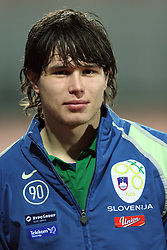 Etien Velikonja (11)  of Slovenia after Friendly match between U-21 National teams of Slovenia and Romania, on February 11, 2009, in Nova Gorica, Slovenia. (Photo by Vid Ponikvar / Sportida)