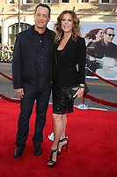"""6/27/2011 Tom Hanks and wife Rita Wilson at the premiere of """"Larry Crowne"""" at the Chinese Theater"""