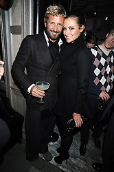 STEFANO PILATI and CAMILLA AL FAYED at a party for Yves Saint Laurent's Creative Director Stefano Pilati given by Colin McDowell held at The Connaught Bar, The Connaught, Mount Street, London on 29th October 2008.