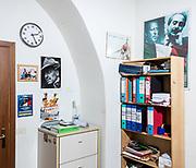 Interno della sede di Fratelli d'Italia ex sede MSI di via Sommacampagna, Roma. | Fratelli d'Italia party headquarters in Sommacampagna street, Rome. This was already a centre of the Movimento Sociale Italiano political party.
