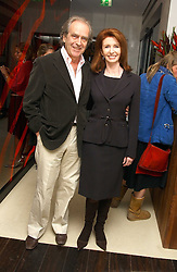 Actress JANE ASHER and her husband MR GERALD SCARFE at a party to celebrate the opening of Maze - a new Gordon Ramsay restaurant at 10-13 Grosvenor Square, London W1 on 24th May 2005.<br /><br />NON EXCLUSIVE - WORLD RIGHTS