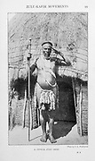 A typical Zulu Chief From the Book '  Britain across the seas : Africa : a history and description of the British Empire in Africa ' by Johnston, Harry Hamilton, Sir, 1858-1927 Published in 1910 in London by National Society's Depository