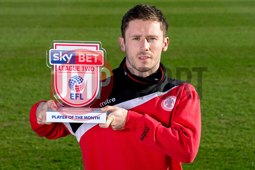 John Coleman and Shay McCartan of Accrington Stanley wins the Sky Bet League Two Manager and Player of the Month awards - Mandatory by-line: Robbie Stephenson/JMP - 06/04/2017 - FOOTBALL - Wham Stadium - Accrington, England - Sky Bet Manager and Player of the Month Award