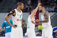Real Madrid Anthony Randolph and Jeffery Taylor during Turkish Airlines Euroleague match between Real Madrid and Khimki Moscow at Wizink Center in Madrid, Spain. November 02, 2017. (ALTERPHOTOS/Borja B.Hojas)