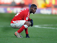Football - 2019 / 2020 Sky Bet (EFL) Championship - Charlton Athletic vs. Sheffield Wednesday<br /> <br /> Jonathan Leko of Charlton drops to his knees after defeat, at The Valley.<br /> <br /> COLORSPORT/ANDREW COWIE