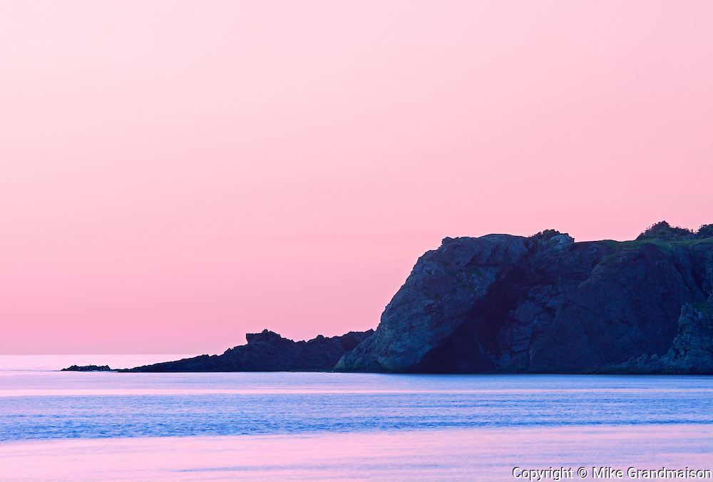 Gulf of St. Lawrence at dusk<br />Trout River<br />Newfoundland & Labrador<br />Canada