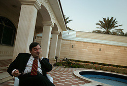 Feisal Istrabadi, senior legal advisor to Governing Council member Adnan Pachachi, is seen outside of his office in Baghdad, Iraq, Feb. 12, 2004. Istrabadi, an Iraqi-American who works out of Chicago as a trial lawyer, is one of the primary authors of the International Transitional Laws in Iraq.