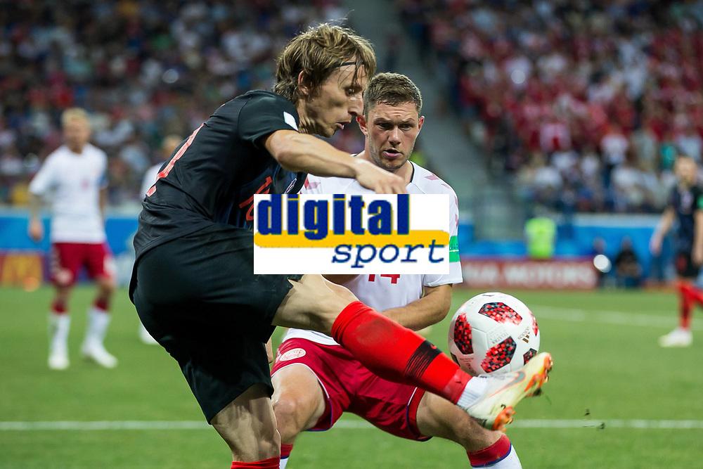 01.07.2018 NIZNY NOWOGROD NIZHNY NOVGOROD PILKA NOZNA (FOOTBALL) MISTRZOSTWA SWIATA ROSJA 2018 FIFA World Cup WM Weltmeisterschaft Fussball RUSSIA 2018 1/8 FINAL CHORWACJA - DANIA (CROATIA-DENMARK) NZ LUKA MODRIC FOTO LUKASZ SKWIOT/CYFRASPORT FRANCE OUT! PUBLICATIONxNOTxINxPOL