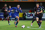 AFC Wimbledon midfielder Dylan Connolly (16) dribbling during the Pre-Season Friendly match between AFC Wimbledon and Crystal Palace at the Cherry Red Records Stadium, Kingston, England on 30 July 2019.