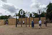 The comedy stage at Latitude Festival on the 21st July 2019 in Southwold in the United Kingdom.
