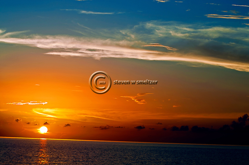 Blazing Lights and Color at Sunset Grand Cayman