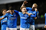 Portsmouth midfielder Ben Thompson (32) celebrates after scoring their third goal during the EFL Sky Bet League 1 match between Portsmouth and Sunderland at Fratton Park, Portsmouth, England on 22 December 2018.
