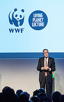 Sir Andrew Cahn introduces speakers at the Inaugural WWF Living Planet Lecture at The Royal Society, London. 3/11/2016