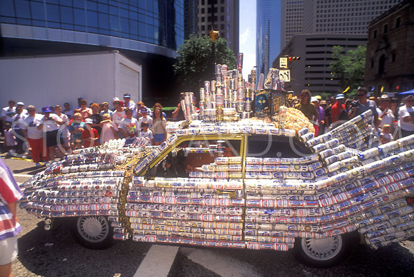 Stock photo of a beer can car
