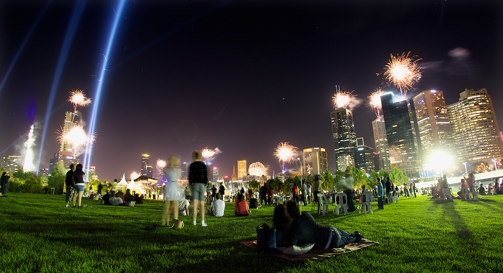 New years eve fireworks at Birrarung Marr. Pic By Craig Sillitoe CSZ/The Sunday Age.31/12/2011 melbourne photographers, commercial photographers, industrial photographers, corporate photographer, architectural photographers, This photograph can be used for non commercial uses with attribution. Credit: Craig Sillitoe Photography / http://www.csillitoe.com<br /> <br /> It is protected under the Creative Commons Attribution-NonCommercial-ShareAlike 4.0 International License. To view a copy of this license, visit http://creativecommons.org/licenses/by-nc-sa/4.0/.