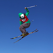 Devin Logan, USA, in action in the Slopestyle Finals during The North Face Freeski Open at Snow Park, Wanaka, New Zealand, 2nd September 2011. Photo Tim Clayton...