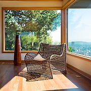 Modern chair fits perfectly in sleek designed Portland Oregon interior