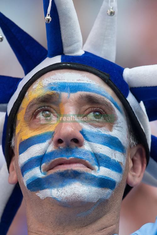 June 25, 2018 - Samara, Russia - Fan of Uruguay during the 2018 FIFA World Cup Russia group A match between Uruguay and Russia at Samara Arena on June 25, 2018 in Samara, Russia. (Credit Image: © Foto Olimpik/NurPhoto via ZUMA Press)