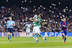 December 5, 2017 - Barcelona, Catalonia, Spain - Sporting CP midfielder Bruno Cesar (11) during the match between FC Barcelona - Sporting CP, for the group stage, round 6 of the Champions League, held at Camp Nou Stadium on 5th December 2017 in Barcelona, Spain. (Credit Image: © NurPhoto via ZUMA Press)
