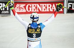 ZENHAEUSERN Ramon of Switzerland celebrates during the Audi FIS Alpine Ski World Cup Men's Slalom 58th Vitranc Cup 2019 on March 10, 2019 in Podkoren, Kranjska Gora, Slovenia. Photo by Matic Ritonja / Sportida
