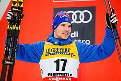 January 6, 2018 - Val Di Fiemme, ITALY - 180106 Andrey larkov of Russia on the podium after men's 15km mass start classic technique during Tour de Ski on January 6, 2018 in Val di Fiemme..Photo: Jon Olav Nesvold / BILDBYRN / kod JE / 160122 (Credit Image: © Jon Olav Nesvold/Bildbyran via ZUMA Wire)