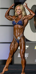 September 15, 2018 - Las Vegas, Nevada, U.S. -  ELEONORA DOBRININA of Canada competes in Women's Physique Olympia during Joe Weider's Olympia Fitness and Performance Weekend 2018.(Credit Image: © Brian Cahn/ZUMA Wire)