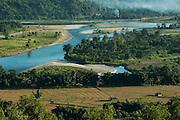 Adi Gallong rice terraces<br /> Adi Gallong Tribe<br /> Arunachal Pradesh<br /> North East India