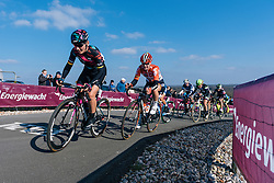 Lisa Brennauer reaches the top of the VAMberg for the second time - Ronde van Drenthe 2016, a 138km road race starting and finishing in Hoogeveen, on March 12, 2016 in Drenthe, Netherlands.