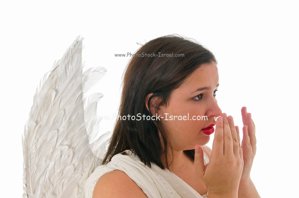 weeping angel On white Background