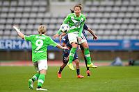 Vanessa Bernauer - 26.04.2015 - Paris Saint Germain / Wolfsbourg - 1/2Finale Champions League feminine<br />Photo : Andre Ferreira / Icon Sport