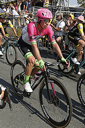 July 8, 2018 - La Roche-Sur-Yon, France - URAN Rigoberto of Team EF Education First-Drapac p/b Cannondale during stage 2 of the 105th edition of the 2018 Tour de France cycling race, a stage of 182.5 kms between Mouilleron - Saint-Germain and La Roche-Sur-Yon on July 08, 2018 in La Roche-Sur-Yon, France, 8/07/18 (Credit Image: © Panoramic via ZUMA Press)