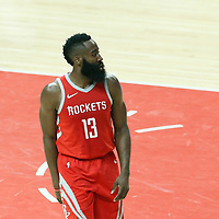 28 February 2018: Houston Rockets guard James Harden (13) is seen during the Houston Rockets 105-92 victory over the LA Clippers, at the Staples Center, Los Angeles, California, USA.
