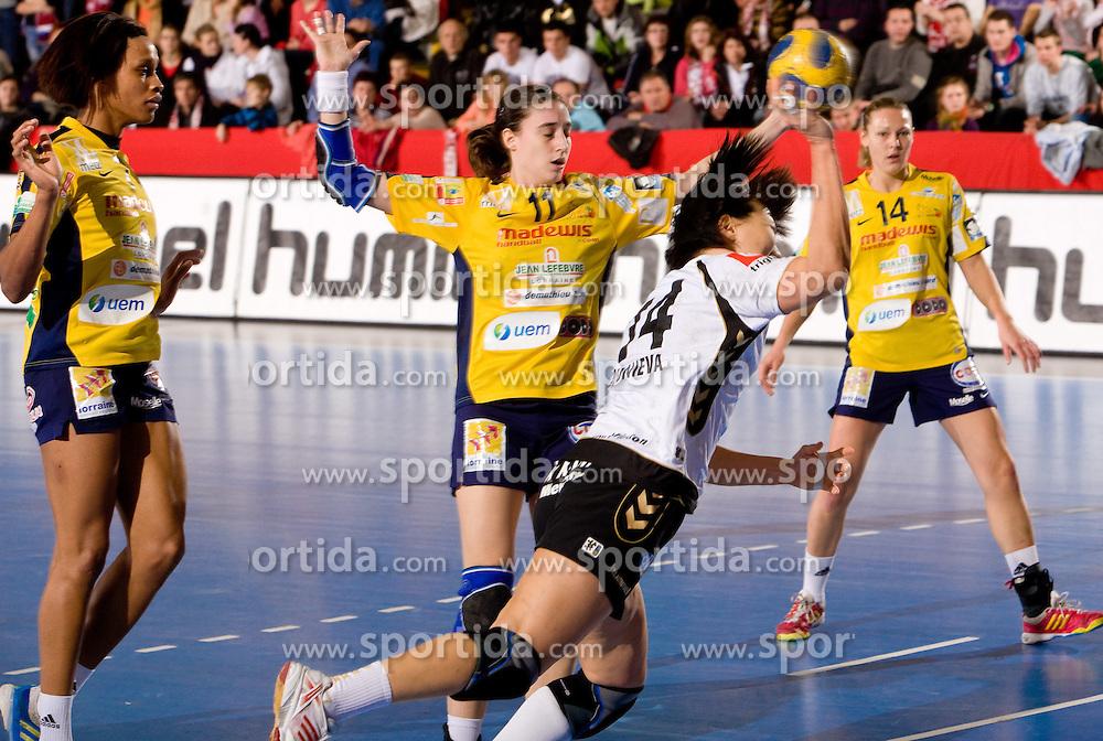 Ljudmila Bodnjeva of Krim at handball match of Round 5 of Champions League between RK Krim Mercator and Metz Handball, France, on January 9, 2010 in Kodeljevo, Ljubljana, Slovenia. (Photo by Vid Ponikvar / Sportida)