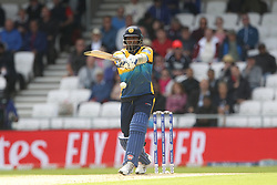 June 21, 2019 - Leeds, Yorkshire, United Kingdom - Sri Lanka's Angelo Mathews batting  during the ICC Cricket World Cup 2019 match between England and Sri Lanka at Headingley Carnegie Stadium, Leeds on Friday 21st June 2019. (Credit Image: © Mi News/NurPhoto via ZUMA Press)