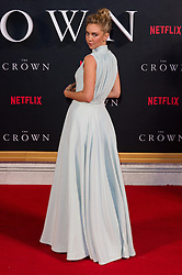 © Licensed to London News Pictures. 01/12/2016. VANESSA KIRBY attends the TV premiere of the new Netflix series The Crown about the reign of Queen Elizabeth II. London, UK. Photo credit: Ray Tang/LNP