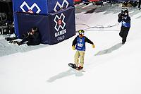 Snowboard , X-Games Oslo <br /> 26. Februar 2016  , 20160226<br /> Snowboard, Half Pipe, Wyller, X-Games <br /> Chase Josey jubler etter å ha landet ett run <br /> Foto: Sjur Stølen / Digitalsport