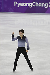 February 17, 2018 - Pyeongchang, KOREA - Boyang Jin of China competing in the men's figure skating free skate program during the Pyeongchang 2018 Olympic Winter Games at Gangneung Ice Arena. (Credit Image: © David McIntyre via ZUMA Wire)