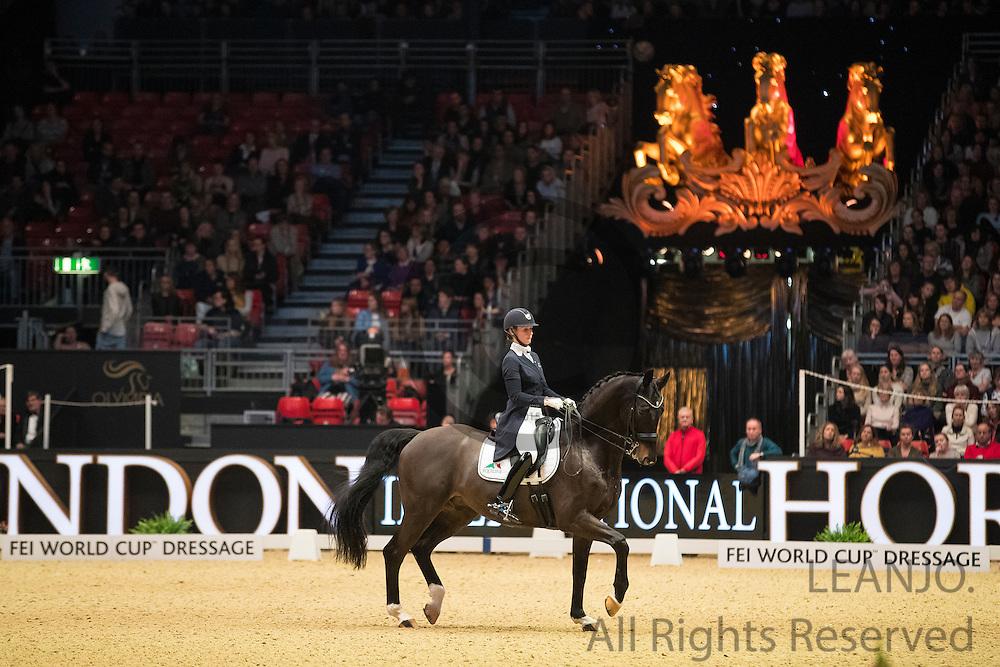 Katja Gevers - Thriller<br /> Olympia Horse Show 2016<br /> © DigiShots