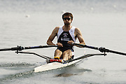 Munich, GERMANY, 2006, FISA, Rowing, World Cup, GBR LM1X, Mark Hunter,  held on the Olympic Regatta Course, Munich, Thurs. 25.05.2006. © Peter Spurrier/Intersport-images.com,  / Mobile +44 [0] 7973 819 551 / email images@intersport-images.com.[Mandatory Credit, Peter Spurier/ Intersport Images] Rowing Course, Olympic Regatta Rowing Course, Munich, GERMANY
